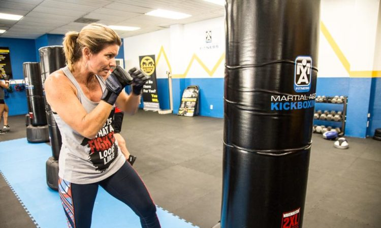 Kickboxing calorie burn running